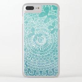 Wonderland Mandala Clear iPhone Case