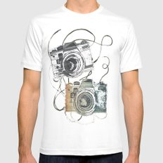 forever film White MEDIUM Mens Fitted Tee