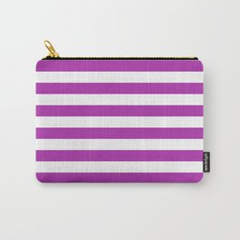Stripes (Purple & White Pattern) Carry-All Pouch