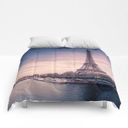 Eiffel Tower Sunset Comforters