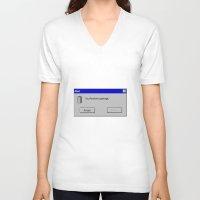 fandom V-neck T-shirts featuring Fandom Garbage Alert by insomniac zach