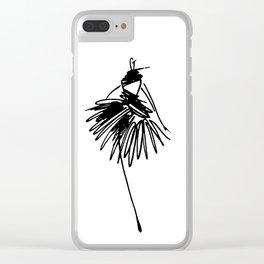 Fashion girl Clear iPhone Case