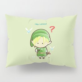 Hey Listen! Cute Link From Zelda Kawaii :) Pillow Sham