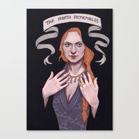 sansa Canvas Prints featuring Sansa by Sara Meseguer