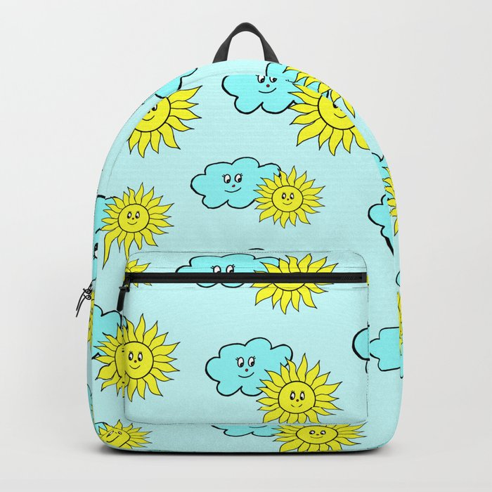 be6649f50a4e Cute baby design in blue Backpack by marionboe