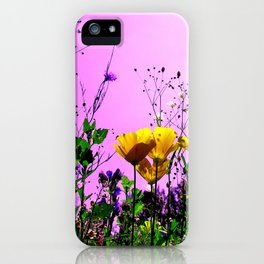 flower field abstract IX iPhone Case