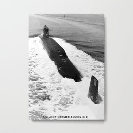 USS JOHN MARSHALL (SSBN-611) Metal Print