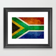 National flag of the Republic of South Africa Framed Art Print