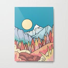 The distant snow peak Metal Print