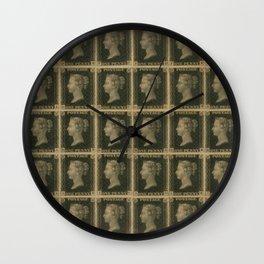 Penny Black Postage Wall Clock