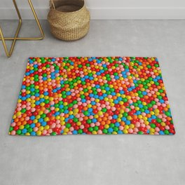 Mini Gumball Candy Photo Pattern Rug