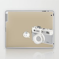 "Yashica Camera - ""Say Cheese"" - soft-brown Laptop & iPad Skin"