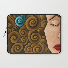 Woman with curly hair Laptop Sleeve