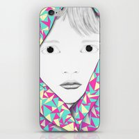 blanket iPhone & iPod Skins featuring Blanket by Denise Colgan