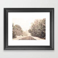 Winter Paradise Framed Art Print