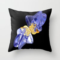 bow Throw Pillows featuring Bow by lightningMade