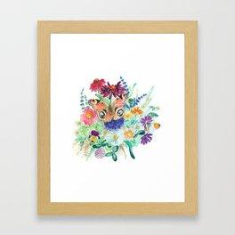 Watercolour Bouquet Framed Art Print