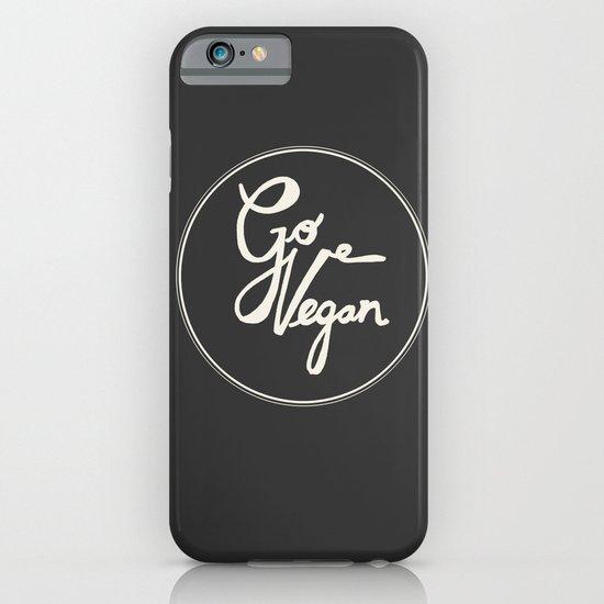 Go Vegan Grey iPhone & iPod Case