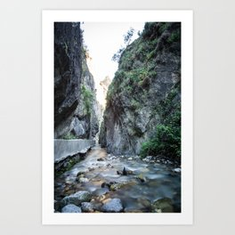 Quiet erosion Art Print