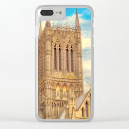 Central Tower of Lincoln Cathedral Clear iPhone Case