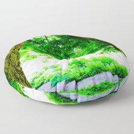 Park idyll Floor Pillow