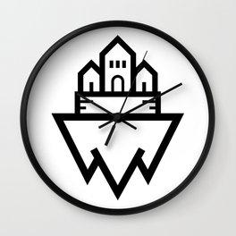 Floating Castle Island Wall Clock