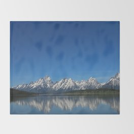 Grand Teton Reflection Throw Blanket