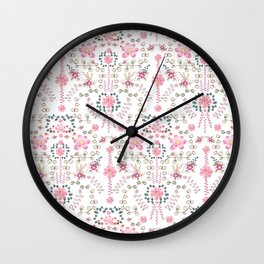 BABYLON~ Floral Trail Watercolor Wall Clock