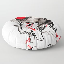 Chibi Amaterasu Okami II Floor Pillow