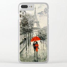 Paris Paris Clear iPhone Case
