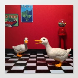 The Rest Stop Ducks & The Gumball Machine Canvas Print