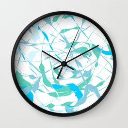 Anxiety Calmness Abstract Wall Clock