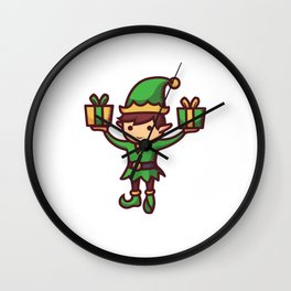 Little Elf's Make Gifts for Us Wall Clock