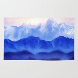 Blue landscape Rug