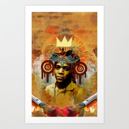 Art Deity: The Radiant Child Jean Michel Basquiat Art Print
