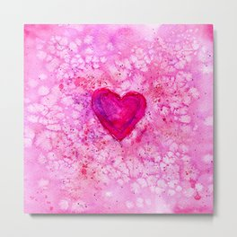 Love || watercolor Metal Print