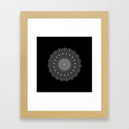 Black  Mandala Framed Art Print