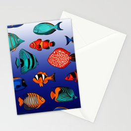 Peces tropicales Stationery Cards
