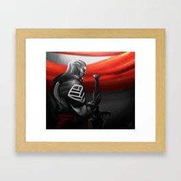It is Gone. Framed Art Print