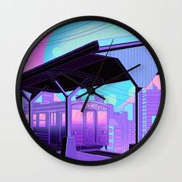 Train to Midnight City Wall Clock