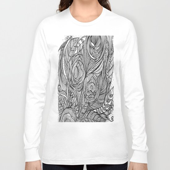 Garden of fine lines Long Sleeve T-shirt