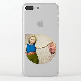 Hillary Clinton- Donald Trump Clear iPhone Case