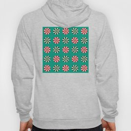 Striped Candy Mints in Christmas Colors Pattern Hoody