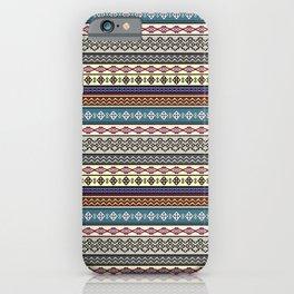 Modern Native Navajo Ethnic Tribal Pattern V.02 iPhone Case