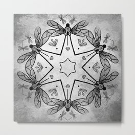 Magical kaleidoscope of dragonflies Metal Print