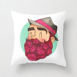 Barbarose Throw Pillow