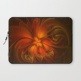 Burning, Abstract Fractal Art With Warmth Laptop Sleeve