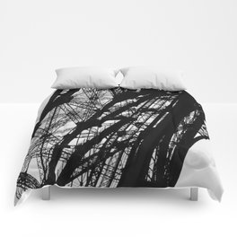 Eiffel Tower Base Detail in Black and White Comforters