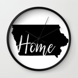 Iowa-Home Wall Clock