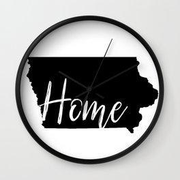 Iowa-Home Wall Clock
